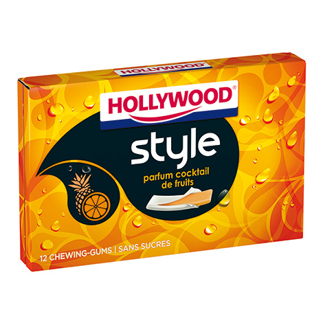 Chewing-gum - Hollywood Style Parfums Cocktails de Fruits 23g Alt Mondelez Pro