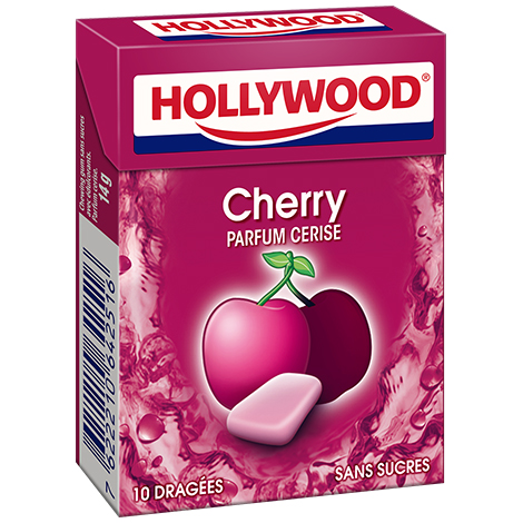 Chewing-gum - Hollywood Fresh Cerise s/sucres 10D Alt Mondelez Pro