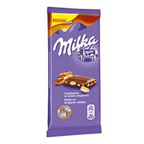 Chocolat Milka Cacahuètes & Caramel 90g Mondelez Pro