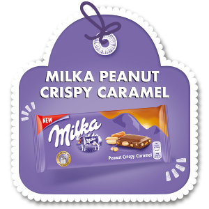 MILKA PEANUT CRISPY CARAMEL 90g