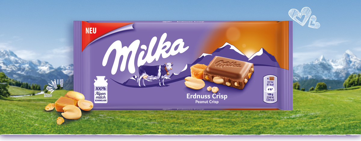 Milka Erdnuss Crisp
