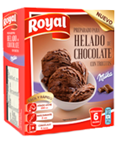 Royal ice cream Milka