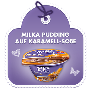 Pudding auf Karamell-Sosse