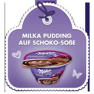 Pudding auf Schoko-Sosse