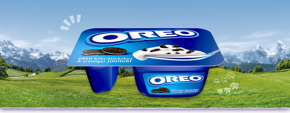 Oreo Keks-Stückchen & cremiger Joghurt