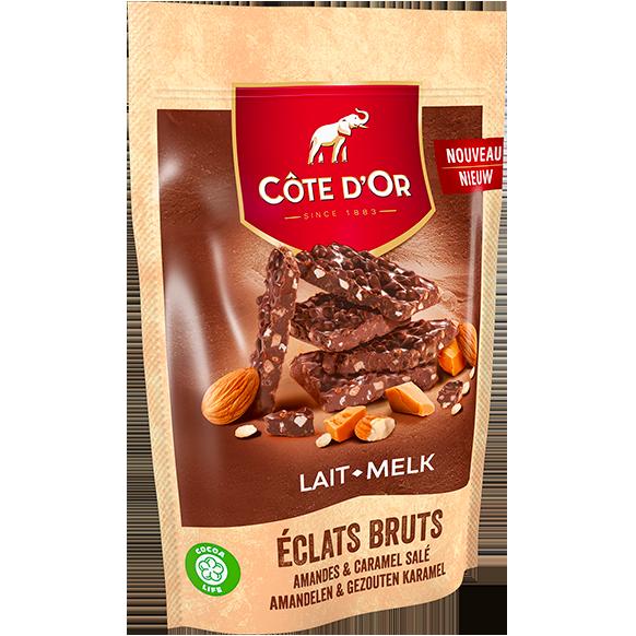 ÉCLATS BRUTS Lait Amandes & Caramel Salé