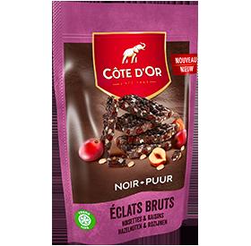 ÉCLATS BRUTS Noir Noisettes & Raisins