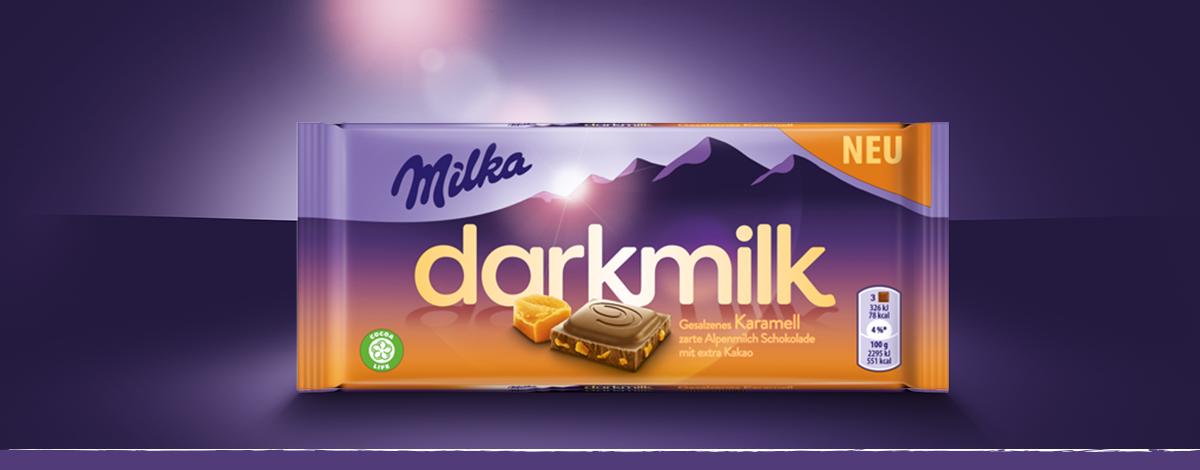 Milka Dark Milk Gesalzenes Karamell