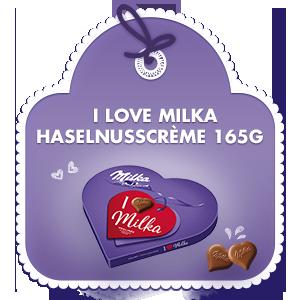I love Milka Geschenkherz 165g