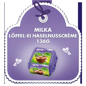 Milka Löffel-Ei Haselnusscrème 136g