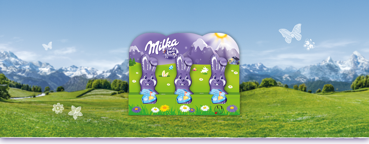 Milka Schmunzelhase Alpenmilch 3x15g