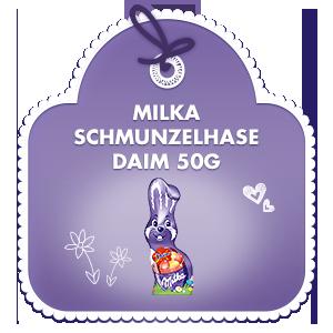 Milka Schmunzelhase Daim 50g
