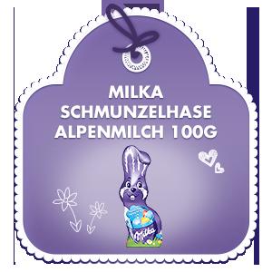Milka Schmunzelhase Alpenmilch 100g