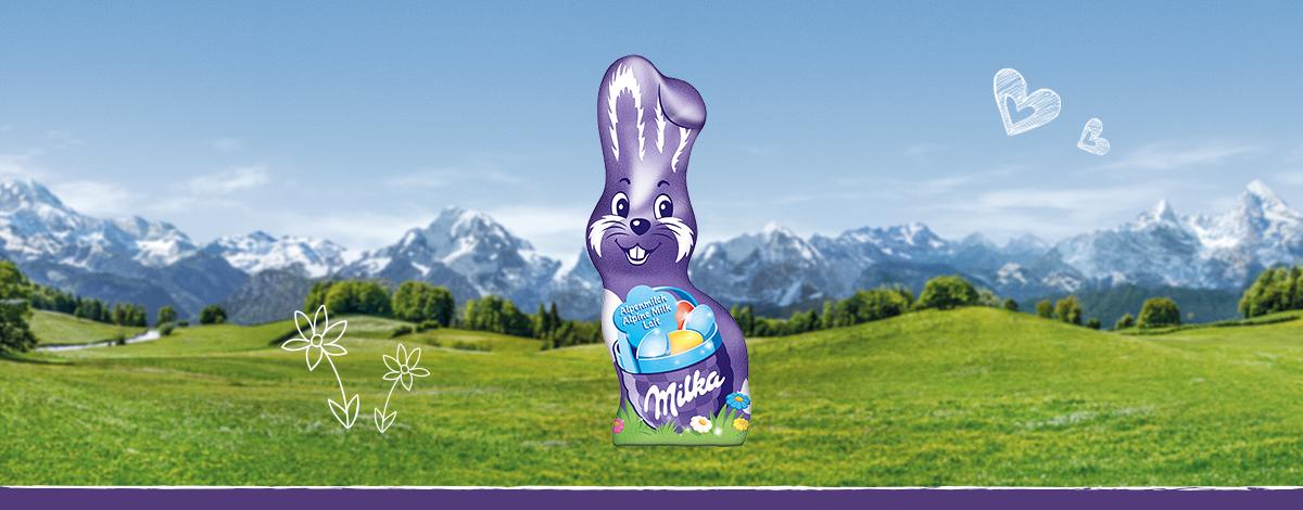 Milka Schmunzelhase Alpenmilch 15g