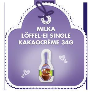Milka Löffel-Ei Single Kakaocrème 34g