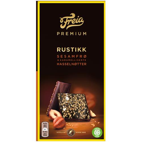 Freia Premium Rustikk Sesamfrø & Karamelliserte Hasselnøtter 101,6g