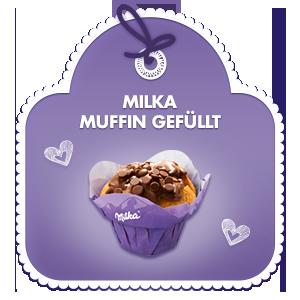 Milka Muffin gefüllt
