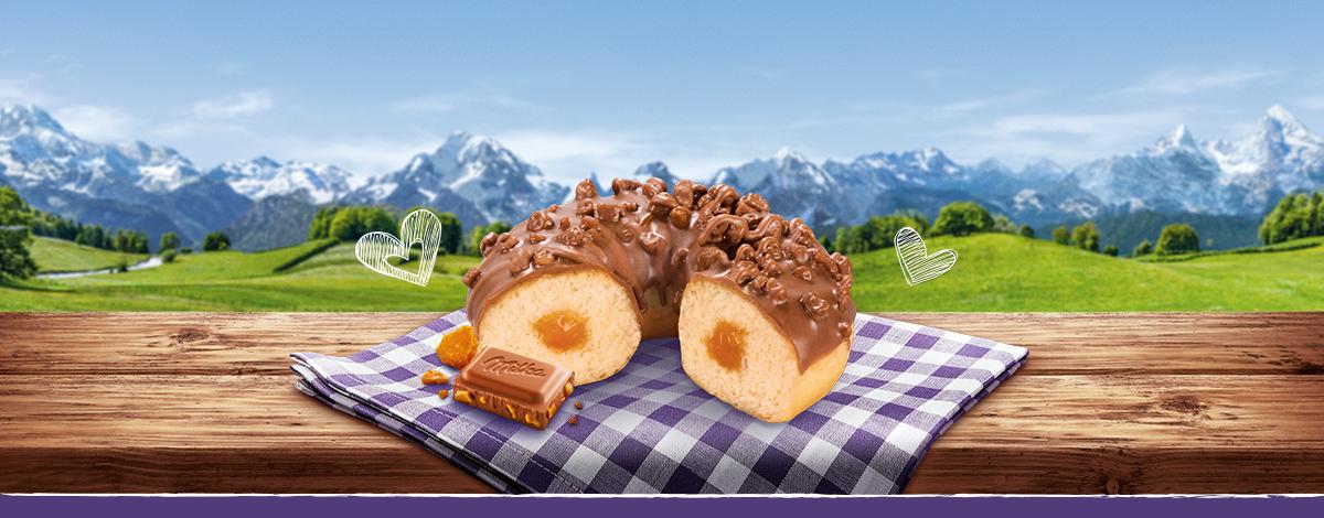 Donut mit Milka und Daim