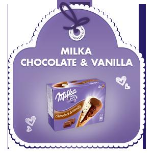 Milka Chocolate - Vanilla Waffelhörnchen