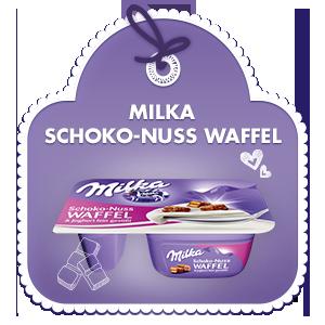Schoko-Nuss Waffel & Joghurt fein gesüßt