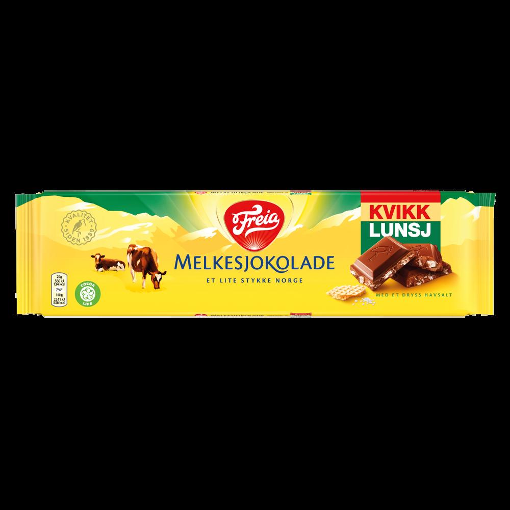 Freia Melkesjokolade med Kvikk Lunsj (200g)