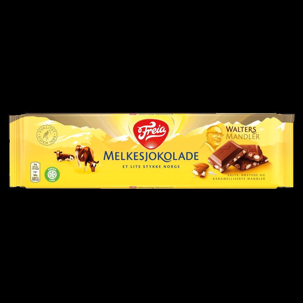Freia Melkesjokolade Walters Mandler (200g)