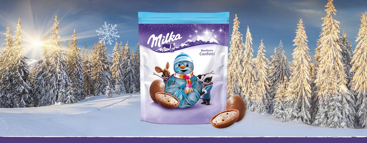Milka Weihnachts-Bonbons Confetti 86g