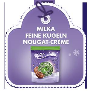 Milka Feine Kugeln Nougat-Crème 90g