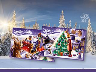 Milka Weihnachtskalender.Milka Adventskalender Figuren 200g