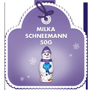 Milka Schneemann Alpenmilch 50g