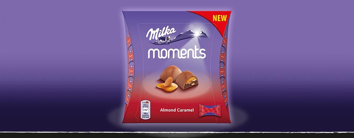 MILKA MOMENTS ALMOND CARAMEL 96 g