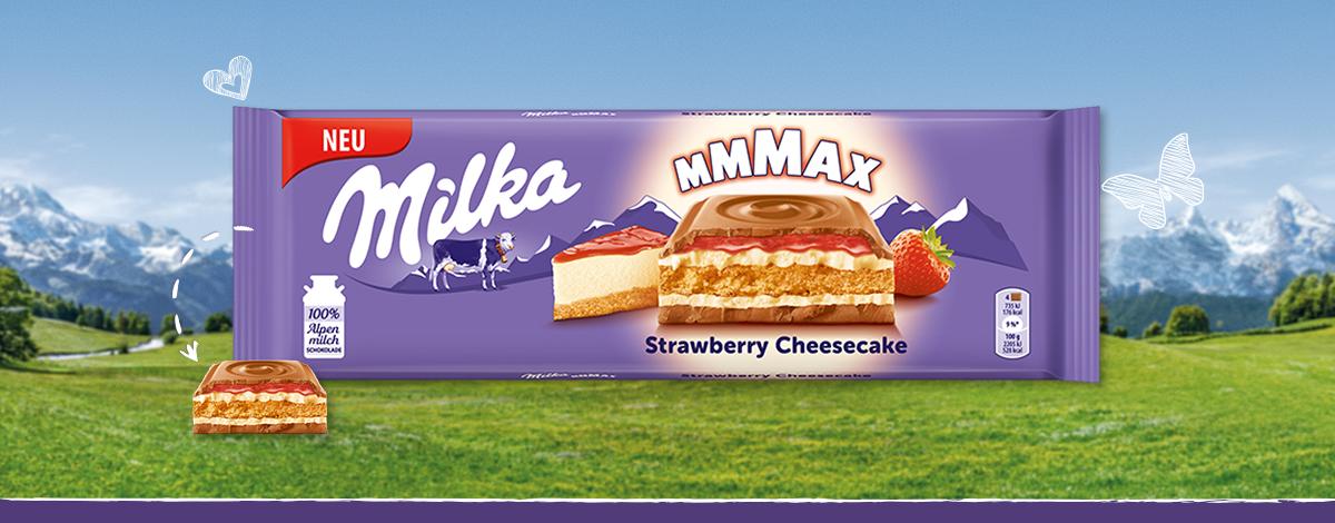 Milka Mmmax Strawberry Cheesecake
