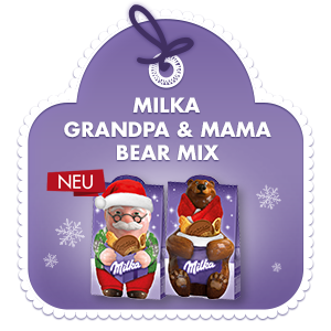 Milka Grandpa & Mama Bear Mix 152g