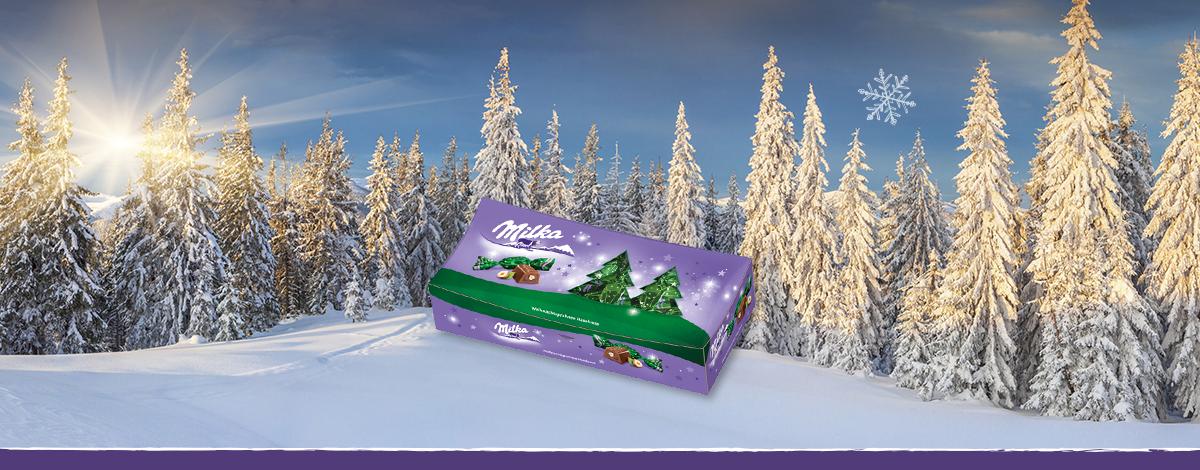 Milka Weihnachtspralinen Haselnusscrème 350g