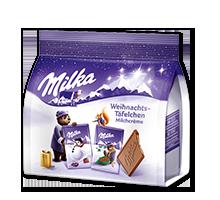 Milka Weihnachts-Täfelchen Milchcrème 150g