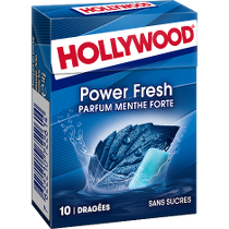 Chewing-gum - Hollywood Power Fresh parfum menthe forte Alt Mondelez Pro