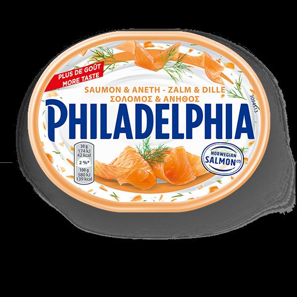 philadelphia-με-σολομό-και-άνηθο
