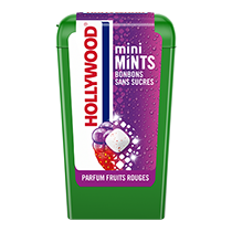 Chewing-gum - Hollywood Mini Mints Fruits Rouges 12.5g