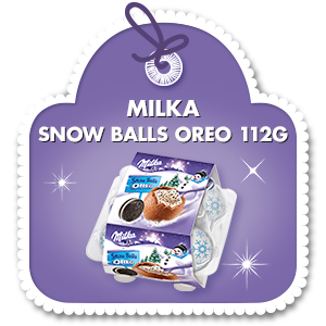 MILKA SNOW BALLS OREO 112G