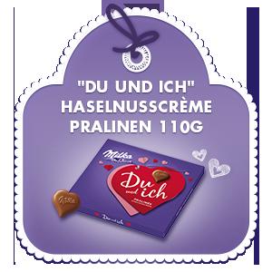 """""""Du und ich"""" Haselnusscrème Pralinen 110g"""