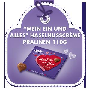 """""""Mein Ein und Alles"""" Haselnusscrème Pralinen 110g"""