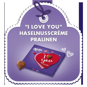 """I love you"" Haselnusscrème Pralinen 110g"