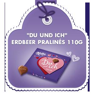 """""""Du und ich"""" Erdbeercrème Pralinés 110g"""
