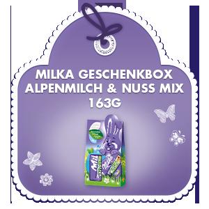 Milka Geschenkbox Alpenmilch & Nuss Mix 163g