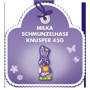 Milka Schmunzelhase Knusper 45g