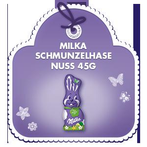 Milka Schmunzelhase Nuss 45g