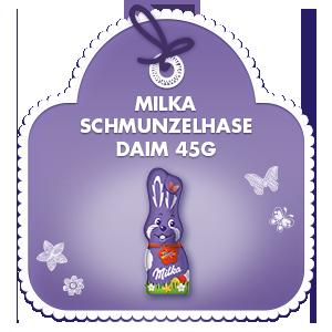 Milka Schmunzelhase Daim 45g