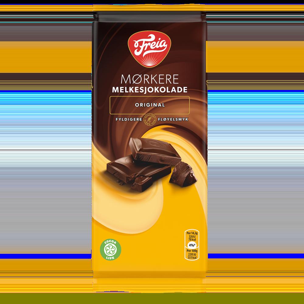 Mørkere Melkesjokolade original 85g