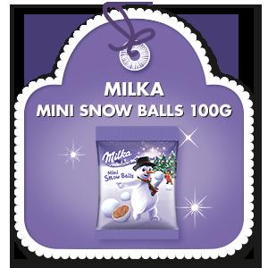 MILKA MINI SNOW BALLS 100 G