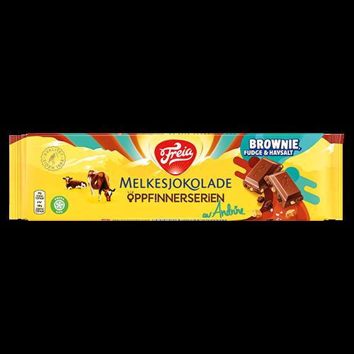 Freia Melkesjokolade med Brownie, Fudge & Havsalt